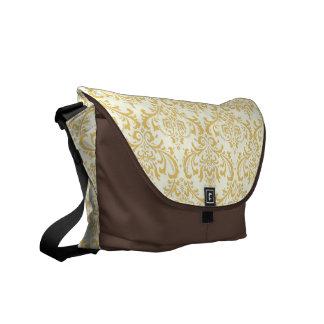 PixDezines Rossi Damask/DIY background color! Messenger Bags