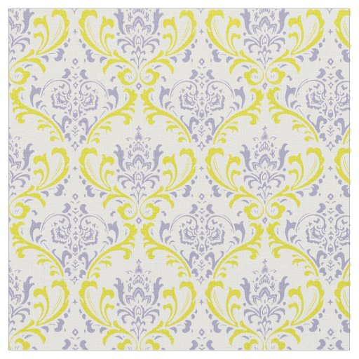 PixDezines rossi damask/purple lilac/yellow Fabric