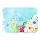 PixDezines rsvp blue+orange hibiscus Card
