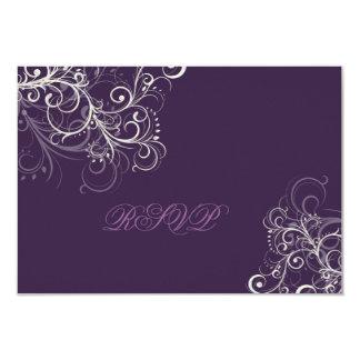 PixDezines rsvp plum+pearl swirls Card