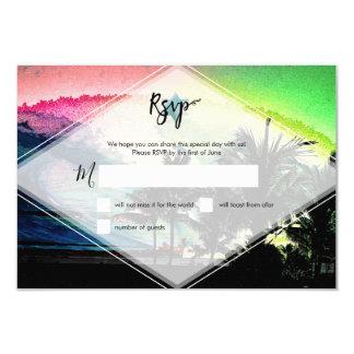 PixDezines RSVP Surfs Up Beach Bar Mitzvah Card