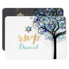 PixDezines rsvp tree of life Bat Mitzvah Card