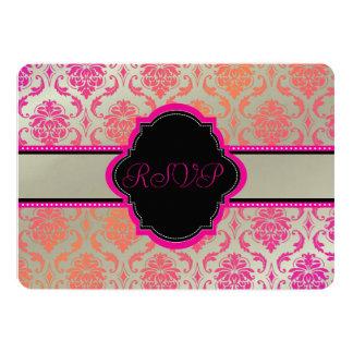 PixDezines rsvp vendome damask/sherbet Card