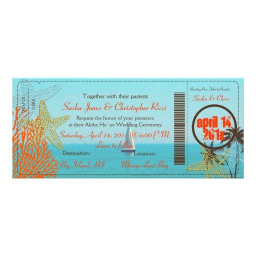 PixDezines sail away Boarding Pass to Paradise Personalized Invitations