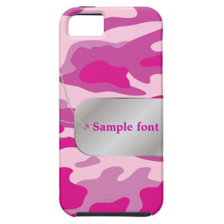PixDezines Sassy Pink Camo+Dog+Tag iPhone 5 Cover