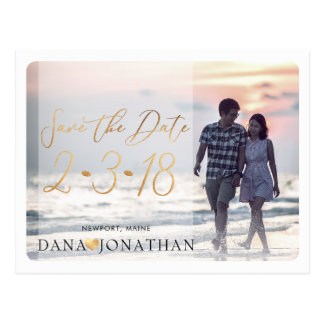 PixDezines Save the Date/Cool Handwritten Script Postcard