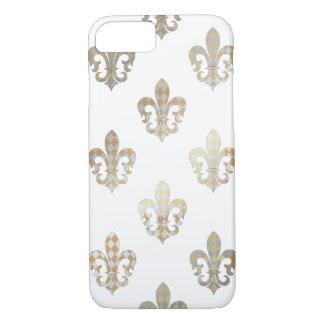 PixDezines silver gold fleur de lis/DIY background Case-Mate iPhone Case
