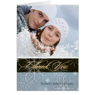 PixDezines Snowflakes / Photo Thank You Cards