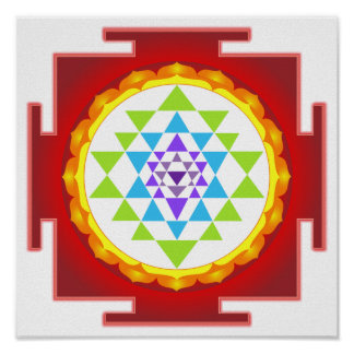 PixDezines Sri Yantra/Meditation/Chakra Poster
