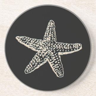 PixDezines Starfish/natural+black Coaster