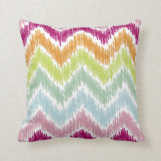 PixDezines summer ikat chevron pattern Throw Pillow