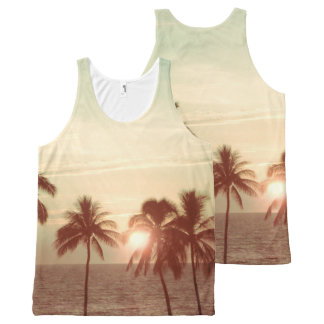 PixDezines sunset at mauna kea beach DIY text All-Over-Print Tank Top