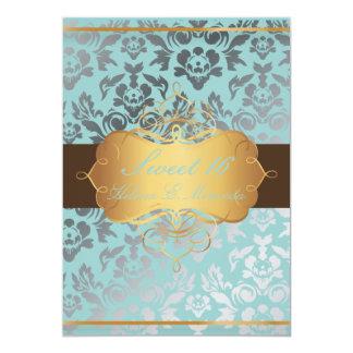 PixDezines Sweet 16/ Damask/tiara/diy colors Card