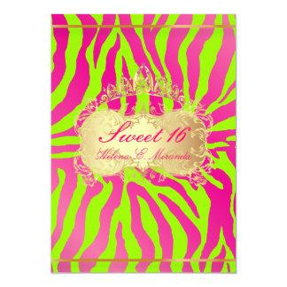 PixDezines Sweet 16/Zebra/diy background Custom Announcement
