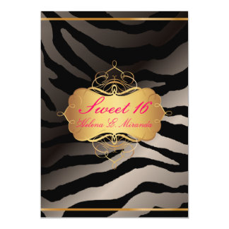 PixDezines Sweet 16/Zebra Stripes Card