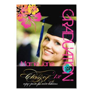 "PixDezines Swirls, 2012 Graduation, Custom Color 5"" X 7"" Invitation Card"