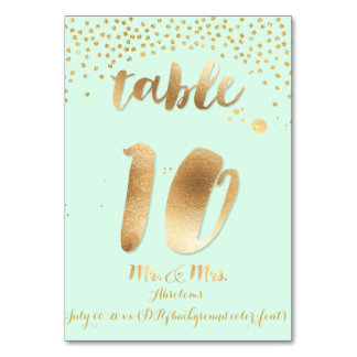 PixDezines table 10/gold sprinkles/DIY color/mint Card