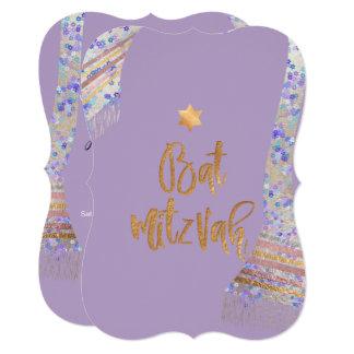 PixDezines Tallit/Lavender Purple/Bat Mitzvah Card