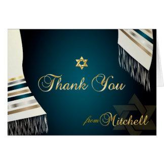 PixDezines Tallit Mitzvah Thank You/DIY color Card