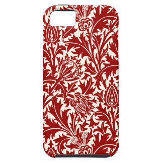 PixDezines Thistles/DIY background color/red Case For The iPhone 5