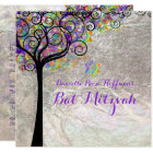 PixDezines tree of life Bat Mitzvah/faux foil Card