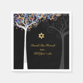 PixDezines tree of life/mitzvah Paper Napkin