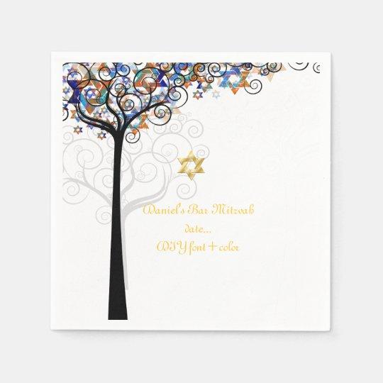 PixDezines tree of life/mitzvah Paper Napkins