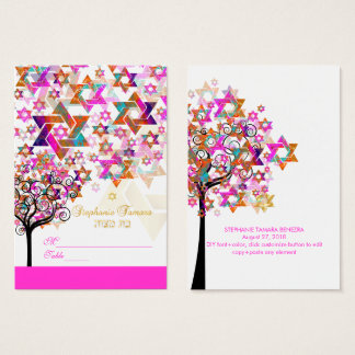 PixDezines Tree of Life Mitzvah Place Cards