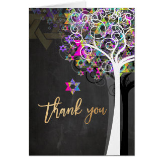 PixDezines tree of life/thank you/Chalkboard Card