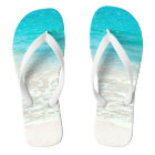 PixDezines Tropical Beach Flip Flops