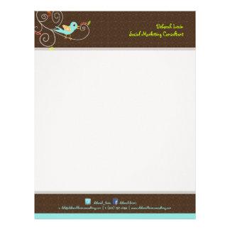 PixDezines Tweet, tweet, SEO marketing/DIY color Letterhead