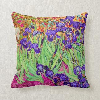 PixDezines van gogh iris/st. remy Throw Pillow