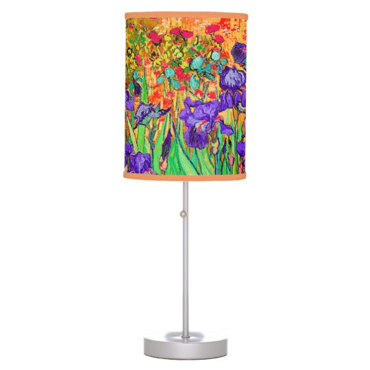 PixDezines Van Gogh Irises/Purple/St. Remy Table Lamp