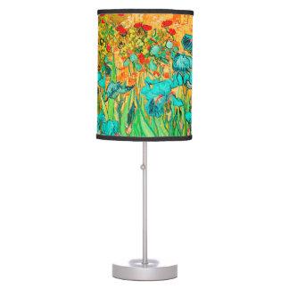 PixDezines Van Gogh Irises/Teal/St. Remy Table Lamp