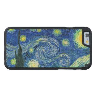 PixDezines Van Gogh Starry Night/St. Remy Carved® Maple iPhone 6 Case