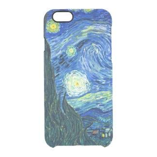 PixDezines Van Gogh Starry Night/St. Remy Clear iPhone 6/6S Case