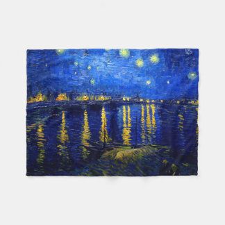 PixDezines van gogh/starry night sur Rhone Fleece Blanket