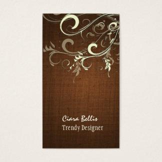 PixDezines vanilla swirls/faux linen Business Card