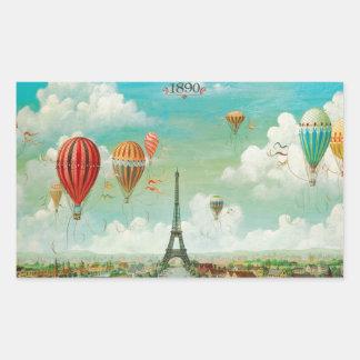 PixDezines vintage balloons/eiffel/paris Sticker