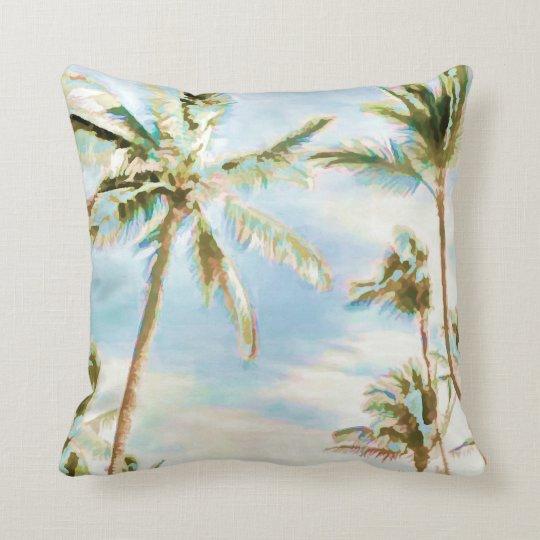 PixDezines vintage beach scene Throw Pillow