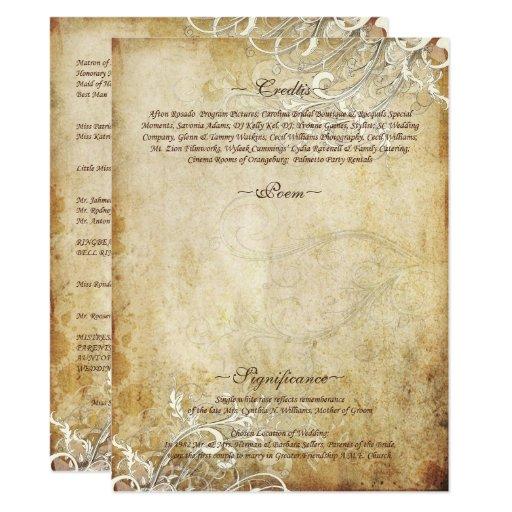 "PixDezines vintage cream swirls 6.5"" X 8.75"" Invitation Card"