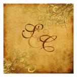 PixDezines Vintage Cream Swirls/Faux Parchment Personalized Invite