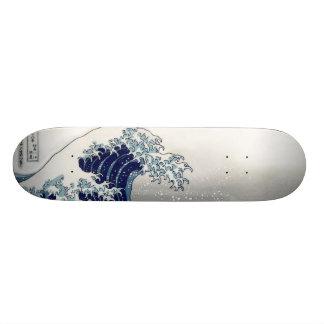 PixDezines Vintage, Great Wave, Hokusai 葛飾北斎の神奈川沖浪 Custom Skate Board