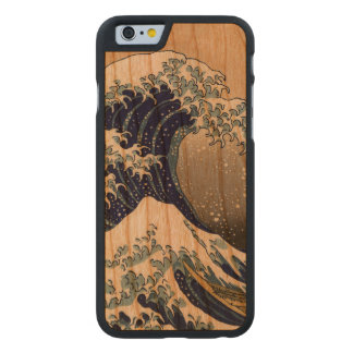 PixDezines Vintage Great Waves Carved Cherry iPhone 6 Case