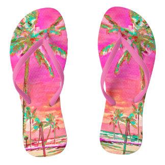 PixDezines Vintage Hawaii, Mauna Lani Bay Flip Flops