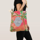PixDezines Vintage Hawaiian Beach/Coral/Teal Tote Bag
