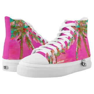 PixDezines Vintage Hawaiian Beach/Pink/Teal