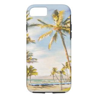 PixDezines Vintage Hawaiian Beach Scene/ iPhone 7 Case