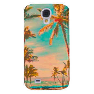 PixDezines Vintage Hawaiian Beach/teal