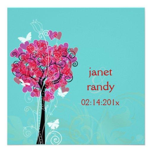 PixDezines vintage hearts tree/diy background Personalized Invitation